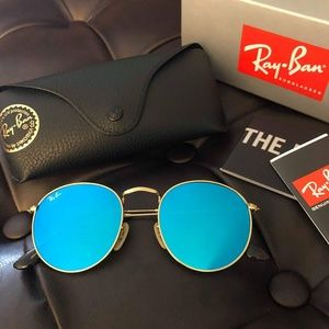 ✨SALE✨ NEW RAY-BAN round Blue Flash